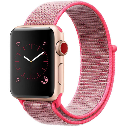 Curea pentru Apple Watch 38 mm iUni Woven Strap, Nylon Sport, Pink
