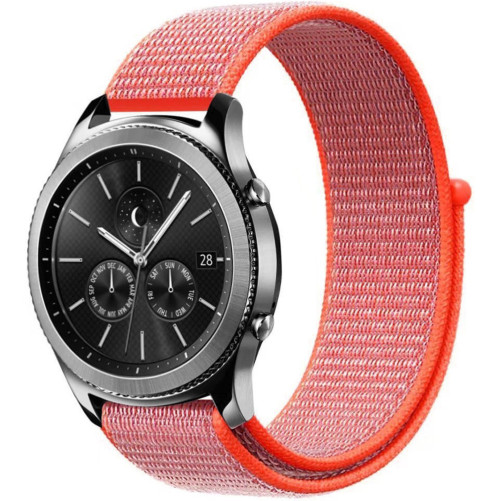 Curea ceas Smartwatch Garmin Fenix 3 / Fenix 5X, 26 mm iUni Soft Nylon Sport, Electric Orange