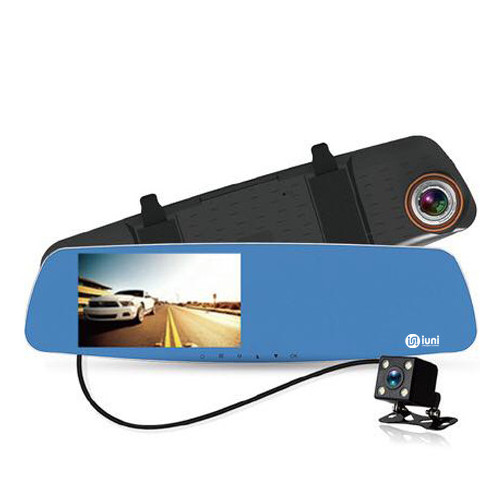 Camera Auto Oglinda iUni Dash 832, Dual Cam, Full HD, Night Vision, G Senzor, Unghi 170 grade