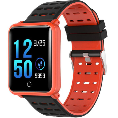 Bratara Fitness iUni M88 Plus, Display OLED, Bluetooth, Pedometru, Notificari, Android si iOS, Portocaliu