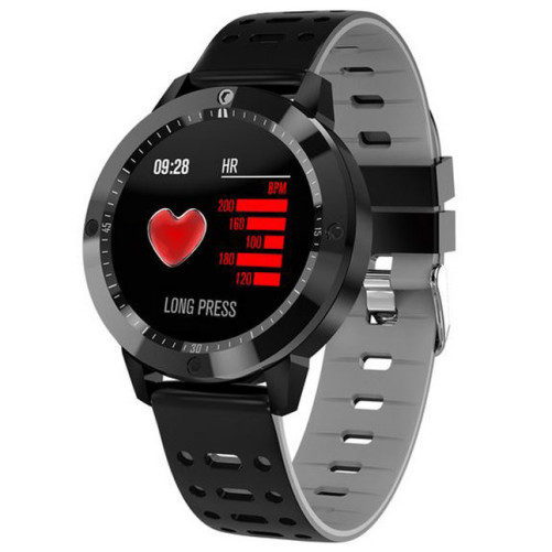 Bratara Fitness iUni CF58, Display OLED, Bluetooth, Pedometru, Monitorizare Puls, Notificari, Gri