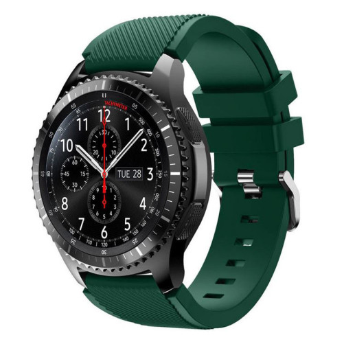 Curea ceas Smartwatch Samsung Gear S3, iUni 22 mm Silicon Green