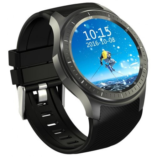 Smartwatch Telefon cu Android iUni DM368 Plus, AMOLED 1.39 inch, Wi-Fi, 4G, GPS, Bluetooth, Monitorizare Puls, Negru