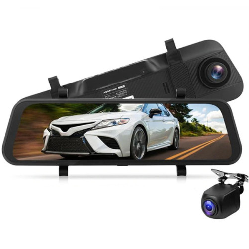 Camera Auto Dubla Oglinda iUni Dash A7, WDR, Touchscreen, Display 9.66 inch, Full HD, Night Vision