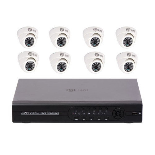 Sistem Supraveghere 8 Camere CCD Sony, DVR 8 canale D1, HDMI, VGA, 2 USB, LAN, PTZ