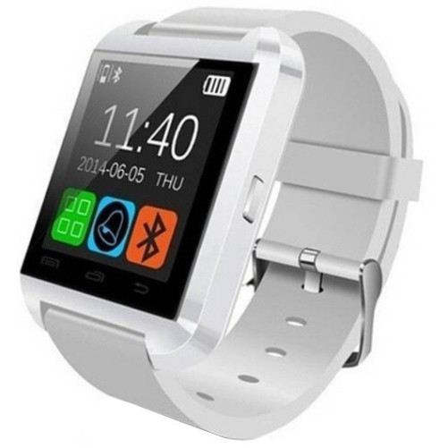 Smartwatch iUni U8+, BT, LCD 1.44 inch, Notificari, Alb
