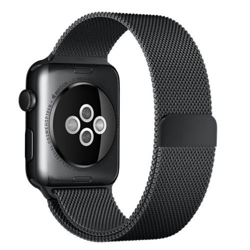 Curea pentru Apple Watch Black Milanese Loop iUni 38mm Otel Inoxidabil