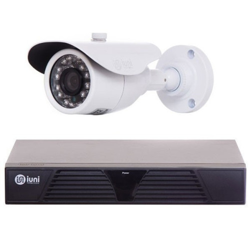 Sistem Supraveghere Mixt 4 Camere CMOS, 600 TVL, DVR 4 canale 960H,HDMI, VGA, 2 USB, LAN, TV-Out