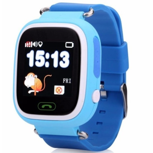 Ceas Gps Copii iUni Kid100, Touchscreen, BT, Telefon incorporat, Buton SOS, Blue