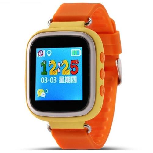 Ceas GPS Copii iUni Kid90, Telefon incorporat, Buton SOS, BT, LCD 1.44 Inch, Orange