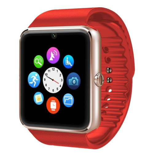 Smartwatch cu telefon iUni GT08, camera, bluetooth, Rosu