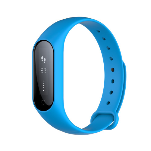 Bratara fitness iUni Y3, Bluetooth, display OLED, Notificari, Pedometru, Monitorizare Sedentarism, Puls, Oxigen sange, Blue