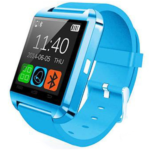 Smartwatch iUni U8+, BT, LCD 1.44 inch, Notificari, Light Blue