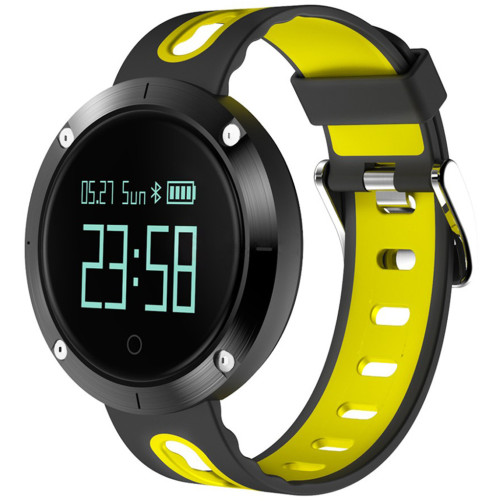 Bratara Fitness iUni DM58 Plus, Waterproof, Display OLED, Ceas, Pedometru, Monitorizare puls, Notificari, Galben