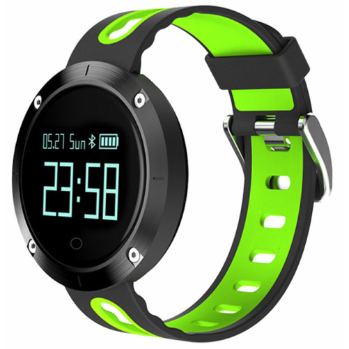 Bratara Fitness iUni DM58 Plus, Waterproof, Display OLED, Ceas, Pedometru, Monitorizare puls, Notificari, Verde