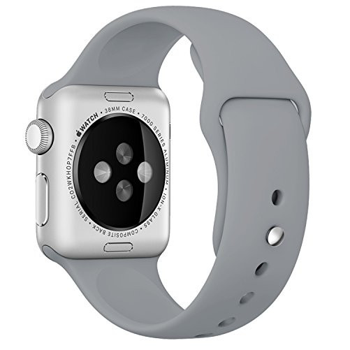 Curea pentru Apple Watch 38 mm Silicon iUni Gray