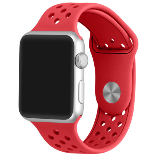 Curea pentru Apple Watch 38 mm Silicon Sport iUni Red
