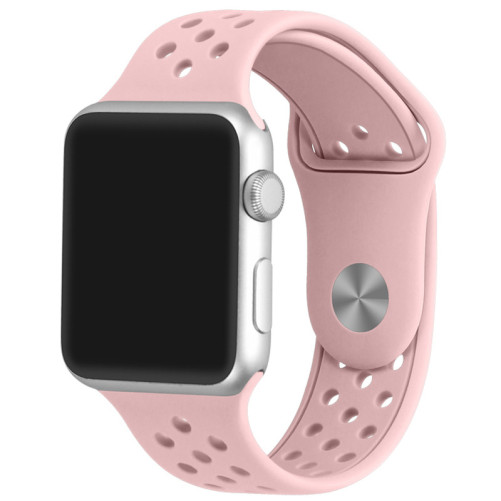 Curea pentru Apple Watch 38 mm Silicon Sport iUni Roz pal