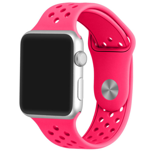 Curea pentru Apple Watch 42 mm Silicon Sport iUni Pink
