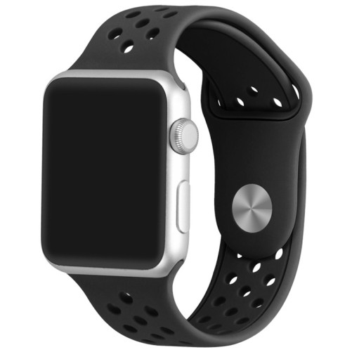 Curea pentru Apple Watch 42 mm Silicon Sport iUni Black