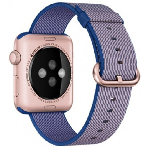 Curea pentru Apple Watch 38 mm iUni Woven Strap, Nylon, Mov Electric
