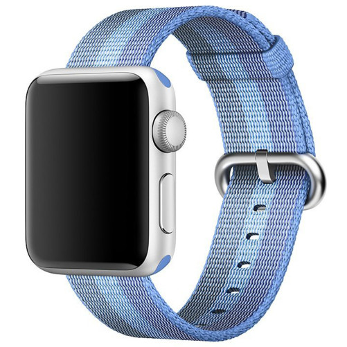 Curea pentru Apple Watch 38 mm iUni Woven Strap, Nylon, Blue