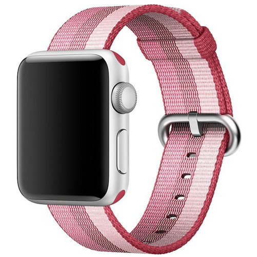 Curea pentru Apple Watch 42 mm iUni Woven Strap, Nylon, Berry