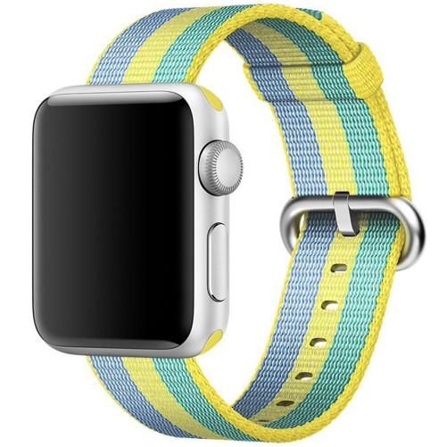 Curea pentru Apple Watch 38 mm iUni Woven Strap, Nylon, Pollen