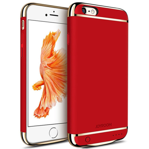 Husa Baterie Ultraslim iPhone 6/6s, iUni Joyroom 2500mAh, Red