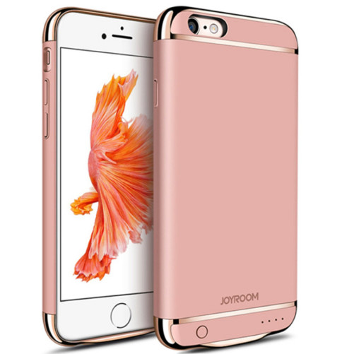 Husa cu Acumulator Ultraslim iPhone 6/6s, iUni Joyroom Power Case 2500mAh, Roz