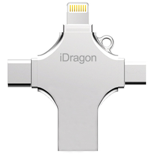 Stick USB-C 32GB iUni iDragon 4 in 1 Lightning, MicroUSB, Type-C, USB 3.0 Smartphone iOS si Android