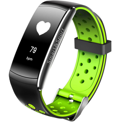 Bratara Fitness iUni Z11 Plus, Display OLED, Bluetooth, Pedometru, Monitorizare puls, Notificari, Android si iOS, Verde