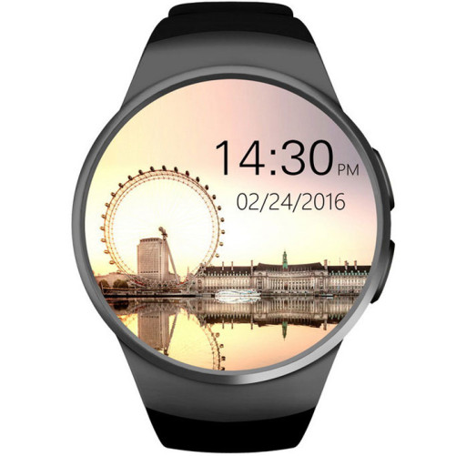 Smartwatch Telefon iUni KW18, Touchscreen, 1.3 Inch, HD, iOS si Android, Black