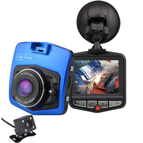 Camera auto Dubla iUni Dash 806, Full HD, 12Mpx, 2.5 Inch, 170 grade, Parking monitor, G senzor, Senzor de miscare, Blue