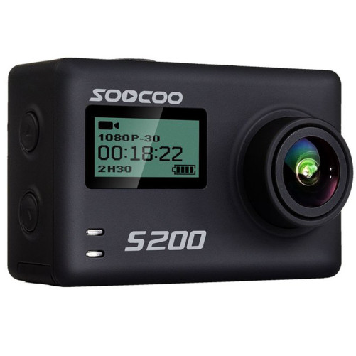 Camera Video Sport 4K iUni Dare S200 Black, WiFi, GPS, mini HDMI, 2.4 inch LCD, Unghi filmare 170 grade, by Soocoo