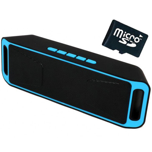 Boxa Portabila Bluetooth iUni DF02, Radio, Blue + Card 4GB Cadou