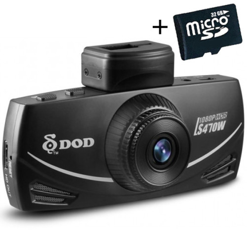 Camera auto DOD LS470W, Full HD, GPS 10x, senzor imagine Sony, lentile 7g Sharp, WDR, G senzor, 2.7 inch LCD + Card 32GB Cadou
