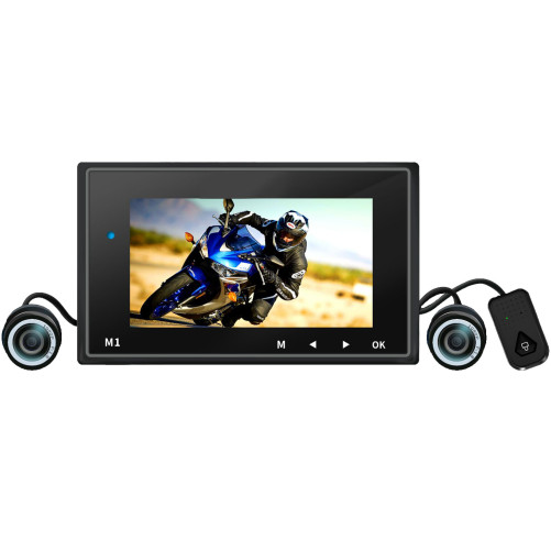 Camera Moto iUni Dash MT01, Dual Cam, Display 2.7 inch, Full HD 1080p, Unghi 155 grade