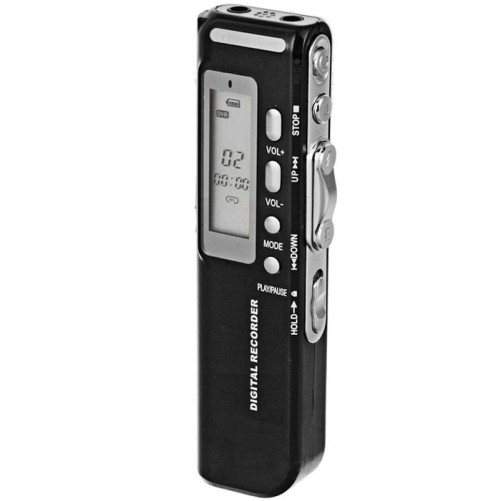 Mini Reportofon Profesional iUni SpyMic REP04, Memorie 8GB, MP3 Player
