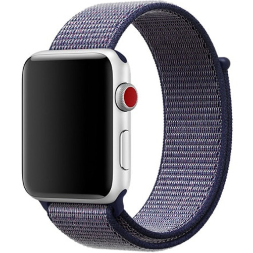 Curea pentru Apple Watch 42 mm iUni Woven Strap, Nylon Sport, Midnight Blue