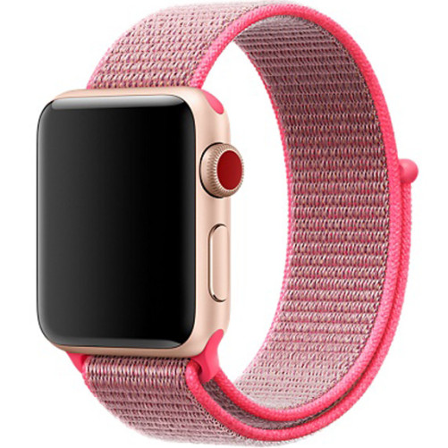 Curea pentru Apple Watch 42 mm iUni Woven Strap, Nylon Sport, Electric Pink