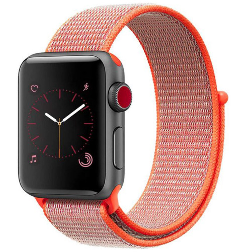 Curea pentru Apple Watch 42 mm iUni Woven Strap, Nylon Sport, Electric Orange