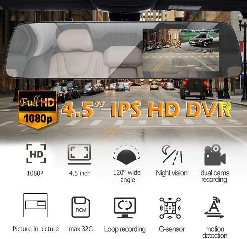 Filmare Full HD Camera Auto Oglinda iUni Dash A5+