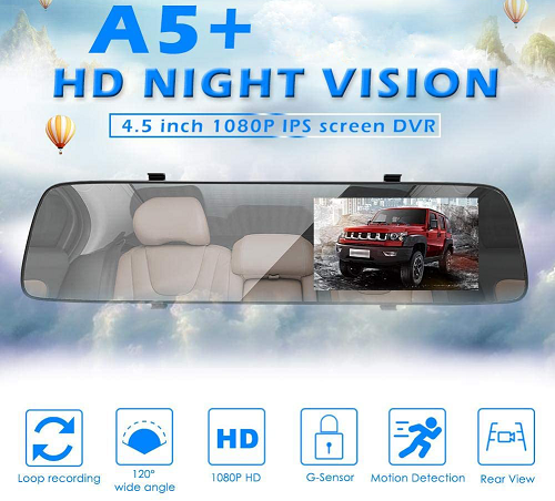 Night Vision Camera Auto Oglinda iUni Dash A5+
