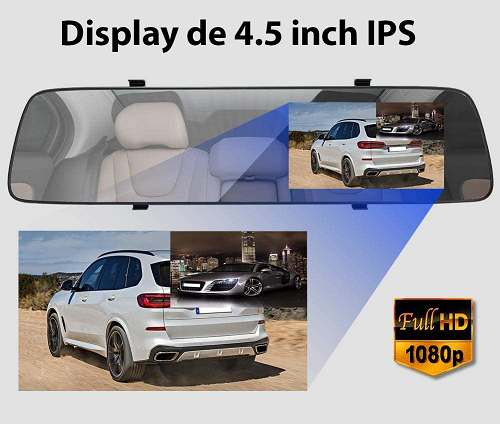 Display generos 4.5 inch Camera Auto Oglinda iUni Dash A5+
