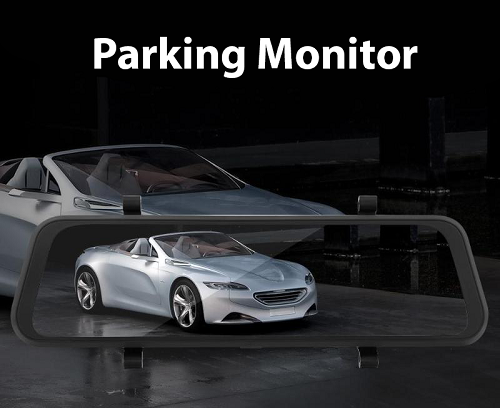 Parking Monitor Camera Auto Dubla Oglinda iUni Dash A7