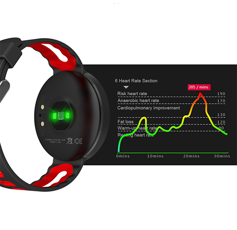 Bratara Fitness iUni DM58 Plus, Display OLED, Ceas, Pedometru, Monitorizare puls, Notificari-1