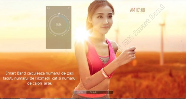 MI1 smart band slim bratara fitness iUni-3