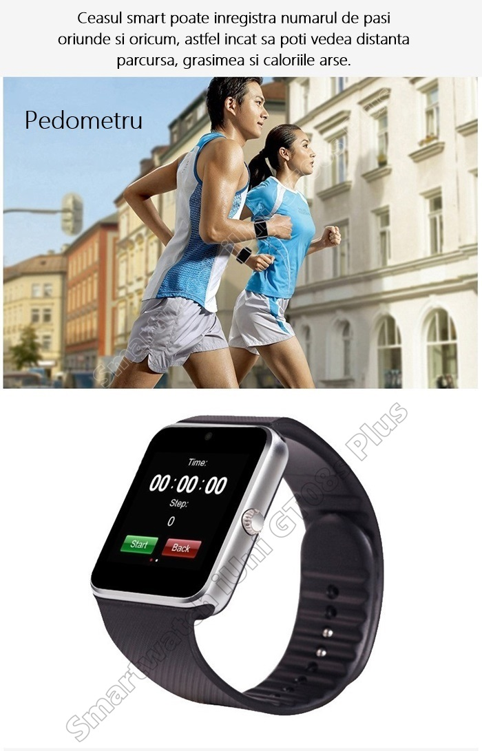 Smartwatch cu Telefon iUni GT08s Plus bluetooth
