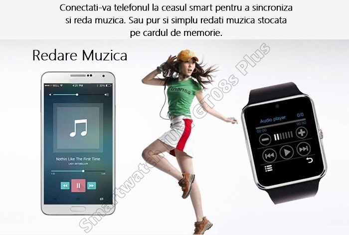 Smartwatch cu Telefon iUni GT08s Plus bluetooth -1